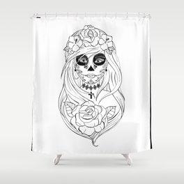 Santa Muerte NB Shower Curtain