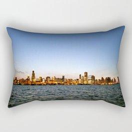 Chicago Skyline Sunset Rectangular Pillow