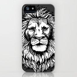 Lion (on dark) iPhone Case