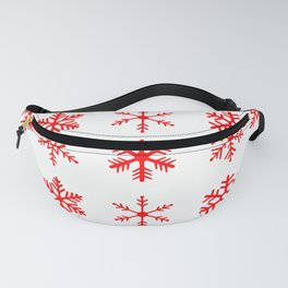 red snowflake seamless pattern Fanny Pack