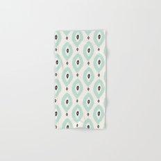 Bohemian Ikat - Dark gray, light blue and cream pattern Hand & Bath Towel