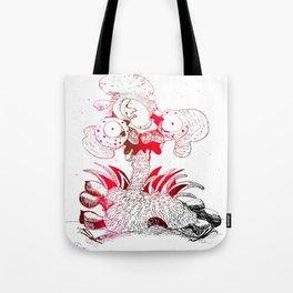 crazy chicken Tote Bag