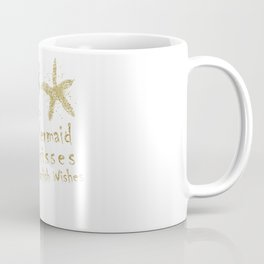 Purple & Gold Glitter Mermaid Kisses Starfish Wishes Coffee Mug