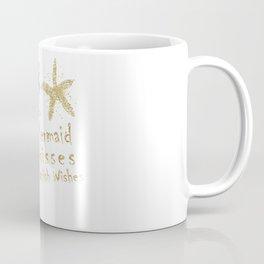 Purple & Gold Glitter Mermaid Kisses Starfish Wishes Coffee Mug