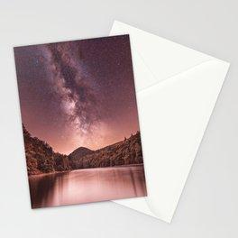 Night Sky Milky Way Stars Stationery Cards
