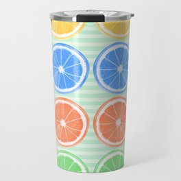 Citrus Fruits Slices Pattern 2 Travel Mug
