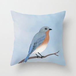 female eastern bluebird portrait Throw Pillow