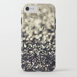 Black and Silver Glitter iPhone Case