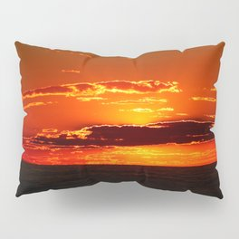 Sunset with Silver lined Clouds Pillow Sham