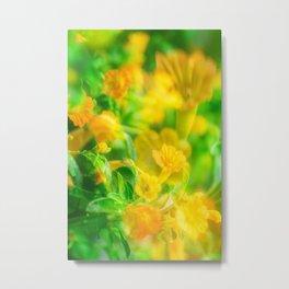 Flower Double Exp Metal Print