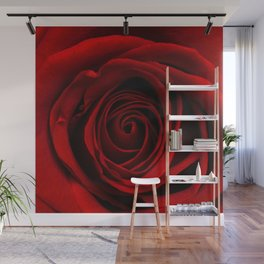 Dark Red Aesthetic Vintage Retro Roses Background Wall Mural