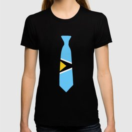 Saint Lucia Patriotic Tie Tee T-shirt
