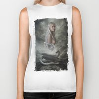 mother of dragons Biker Tanks featuring Mother of Dragons by Flo Tucci