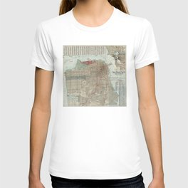 Vintage Map of San Francisco CA (1914) T-shirt