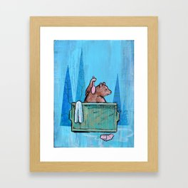 Privacy Please Framed Art Print