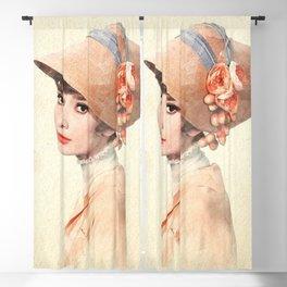 Audrey Hepburn - Eliza Doolittle - Watercolor Blackout Curtain