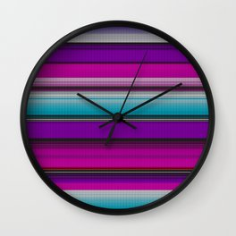 Mexican serape #7 Wall Clock