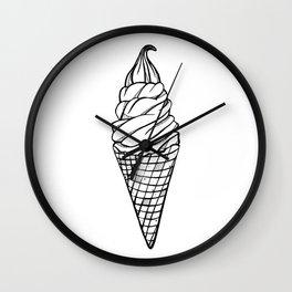 Fro-Yo Waffle Cone Wall Clock