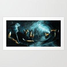 Foxes Den Art Print