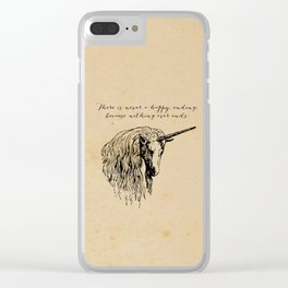 The Last Unicorn Clear iPhone Case