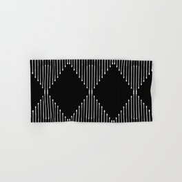 Geo / Black Hand & Bath Towel