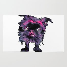 Lugga The Friendly Hairball Monster For Ghouls Rug