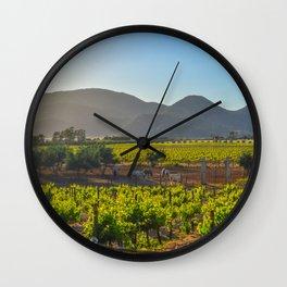 Mexican vineyard Wall Clock