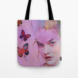 Isabelle and butterflies fork Tote Bag