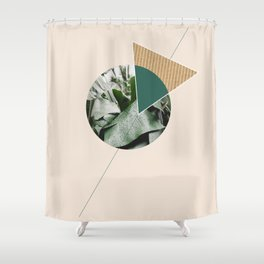 Tropical & Geometry Shower Curtain