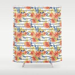 Orange bouquet pattern Shower Curtain