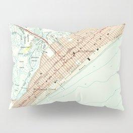 Vintage Map of Wildwood NJ (1955) Pillow Sham
