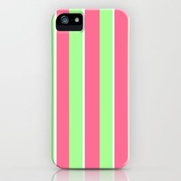 Vintage Victorian Pink Green and White Stripes - Vertical iPhone Case