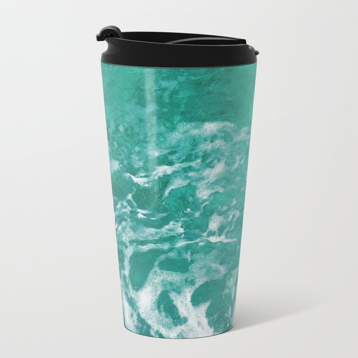 Bavaro Beach ocean waves Metal Travel Mug