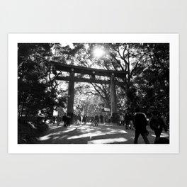 Grand Torii (gate) of Meiji Shrine Art Print