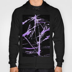 Purple on black Hoody
