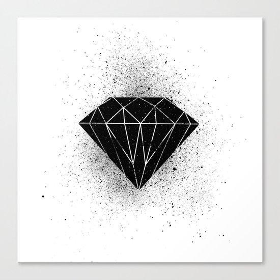 Black diamond! Canvas Print