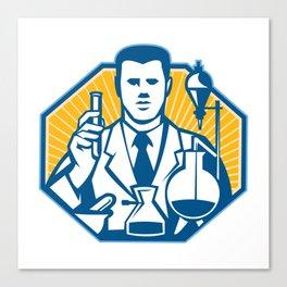 Scientist Lab Researcher Chemist Retro Canvas Print