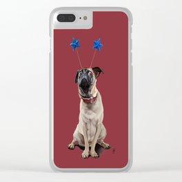 A Pug's Life (Colour) Clear iPhone Case