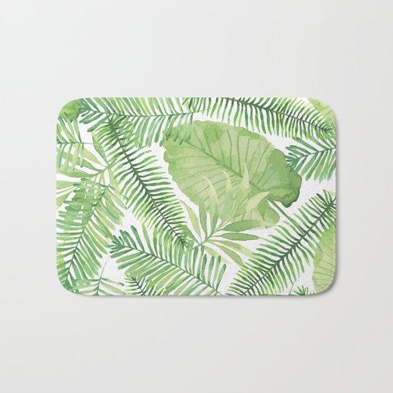 Tropical Branches Pattern 09 Bath Mat