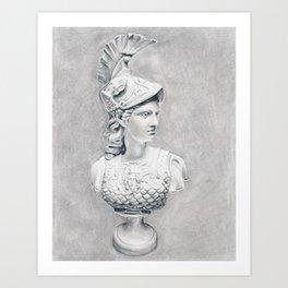 Athena Bust Sculpture Art Print