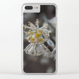 Floral Print 099 Clear iPhone Case