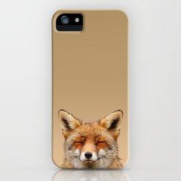 Zen Fox (Red Fox smiling) iPhone Case