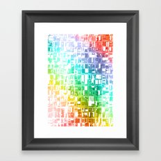 spectrum construct Framed Art Print