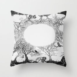 The last person in the world Throw Pillow