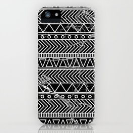 tribal marble iPhone Case