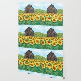 Sunflowers House Wallpaper