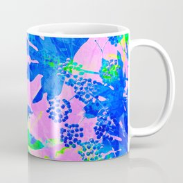 Tropical Adventure - Neon Blue, Pink and Green #tropical #homedecor Coffee Mug