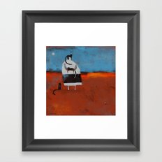 TINY BLACK SHOES Framed Art Print