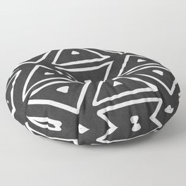 Big Triangles in Black and White Floor Pillow