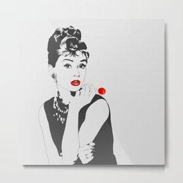 Lollipop for Breakfast - Audrey Hepburn Metal Print